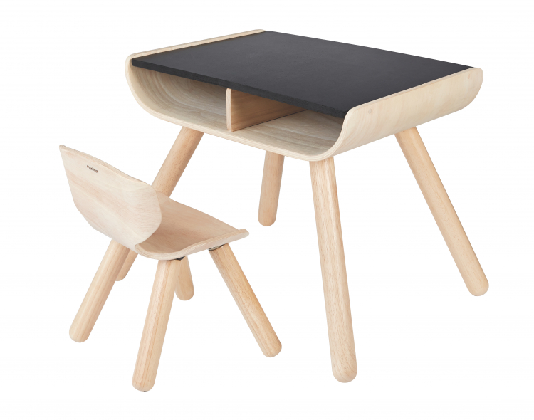 Bent Wood Table Chair Set Sustainable Kids Furniture